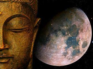 Buddha and the Moon