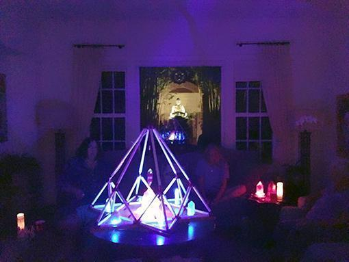 "The ""Mini"" Portalhedron at Medicine Buddha Mantra Night in the home of Beatrex Quntanna"