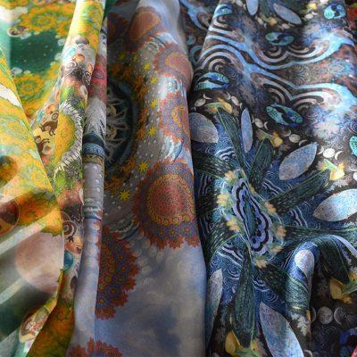 Silk Scarf Capricorn Aquarius Pisces Aries