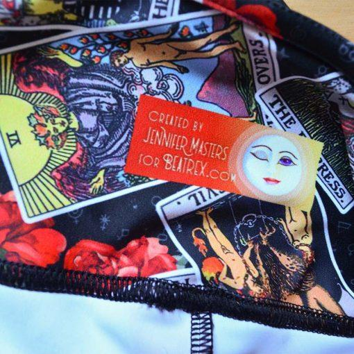 Goddess Size Tarot Leggings Black Jumble label