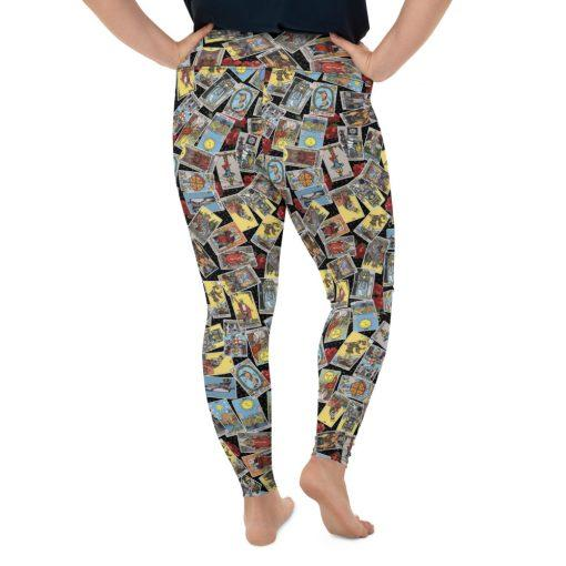 Goddess Size Tarot Leggings Black with Jumble back